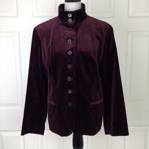 Lauren Ralph Lauren Burgundy Velvet Blazer/Jacket